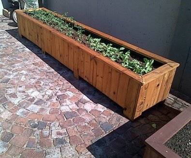 Planter box Shenaz series 3000 treated