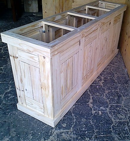 Kitchen Cupboard Base unit Farmhouse series 2000 Raw
