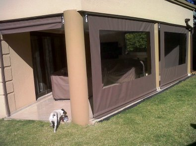 canvas roller blinds and Awnings