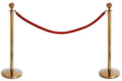 Stanchions and ropes for sale