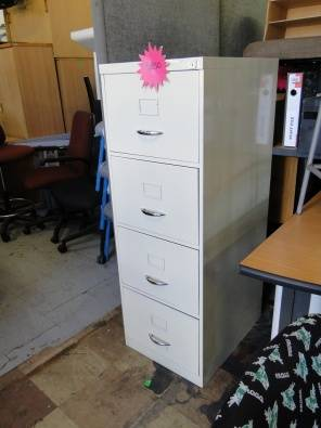 4 Drawer Steel Filling Cabinets R750 Neg