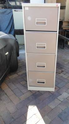 4 Drawer Steel Filling Cabinets R750 Neg