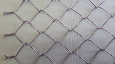 75mm APERTURE GALVANISED DIAMOND MESH