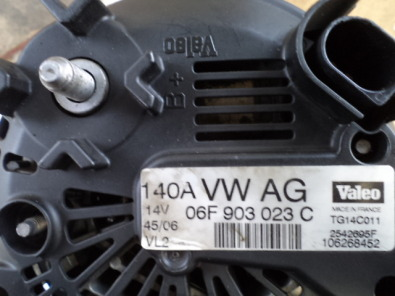 golf  / audi 1.9 tdi 2.0 tdi alternator