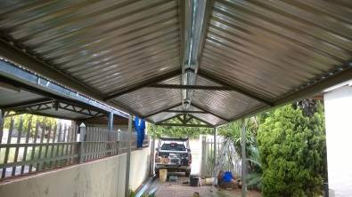 Carports delivered and erected