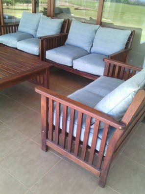 Wooden 7 Piece Lounge / Patio Furniture