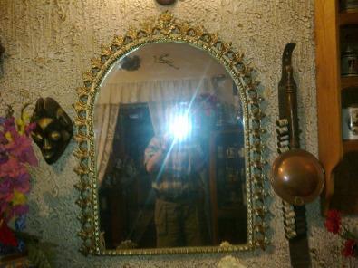 Brass Frame Mirror