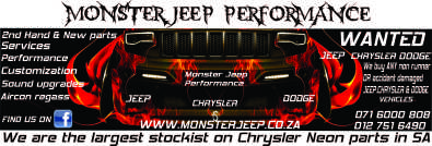 Jeep,Chrysler and Dodge New & Secondhand parts