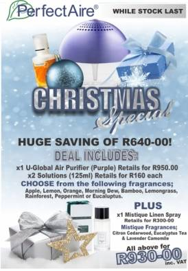 Air purifier with solutions save R640.00
