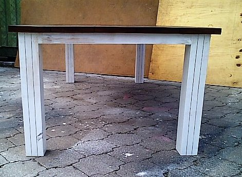 Patio table Chunky Cottage series 2500 Two tone