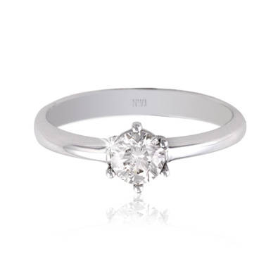 18ct White Gold Claw Set Diamond Solitaire Ring