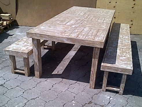 Patio table Farmhouse series 2500 Combo 1 Glazed