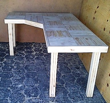 Study desk Farmhouse series 2100 L Shape Raw