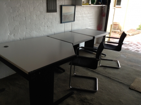 REDUCED - FANTASTIC IMPORTED DESK SET - Office Desk Set- Large corner unit plus 2 side desks