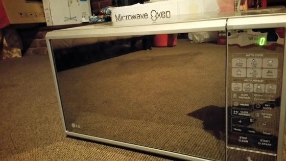 LG microwave (mj3881bc)