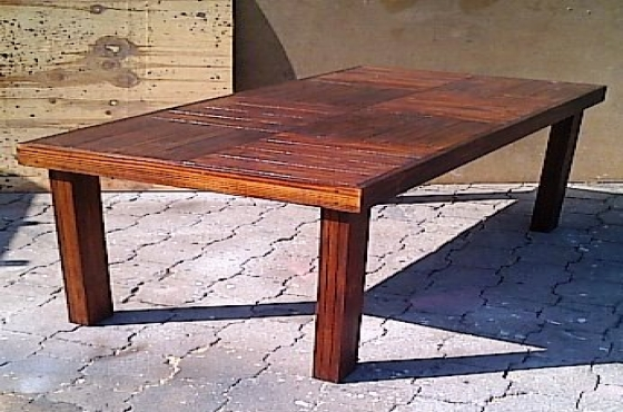 Patio table Farmhouse series 1900 Stained
