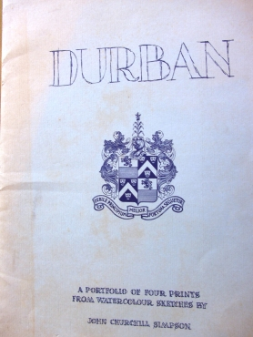 Potfolio of Prints Of Durban by J C Simson - watercolour sketches