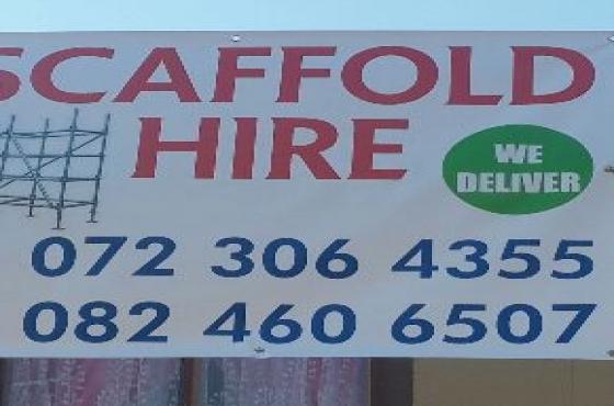 scaffold hire R200 per set per day