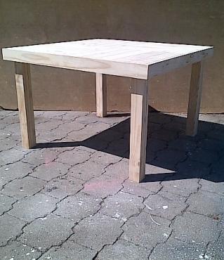 Patio table Farmhouse series 1140 Square Raw