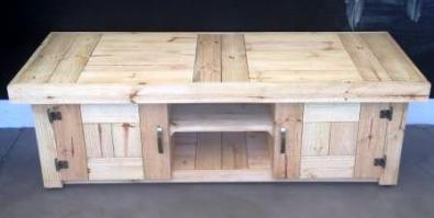 TV display unit Farmhouse series 1600 with doors Sealed