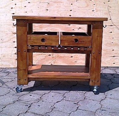 Braai Trolley Chunky Cottage series 980 Stained