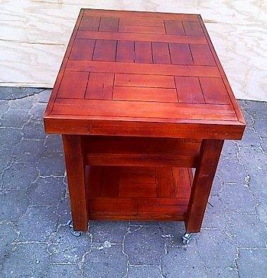 Kitchen Island Farmhouse series 1300 mobile Stained