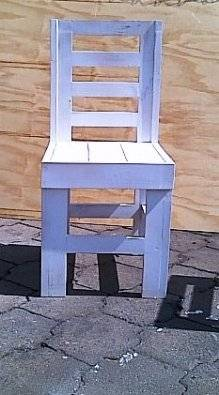 Patio table chair Farmhouse series medium white washed