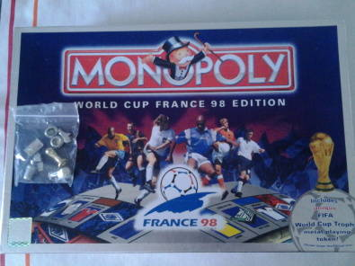 France 1998 World Cup Monopoly Plus cards x2 + Book and Truck