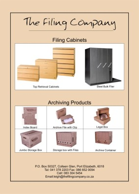 Top Retrieval Filing Cabinets, Racking, archive boxes