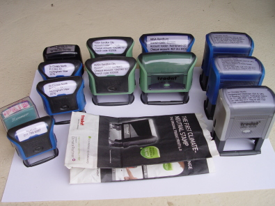 11 Trodat Rubber Stamps Variety of different sizes