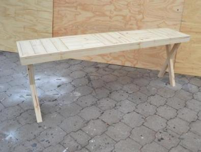 Sofa table Farmhouse series 2000 with crossed legs Raw