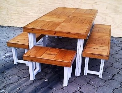 Patio table Farmhouse series 1850 Combo 3 Two Tone