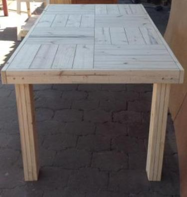 Patio table Farmhouse series 1915 Eight seater Raw