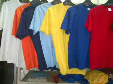 T shirts and golfers for sale with company logos