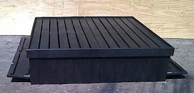 Box bed Farmhouse series King size with storage Black