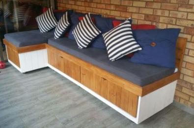 Couch Farmhouse series 3000 L-shape Two tone