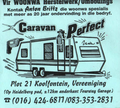 Caravan Repairs - done by professional, best price