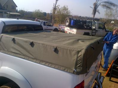 Toyota Hilux Ripstop canvas canopy