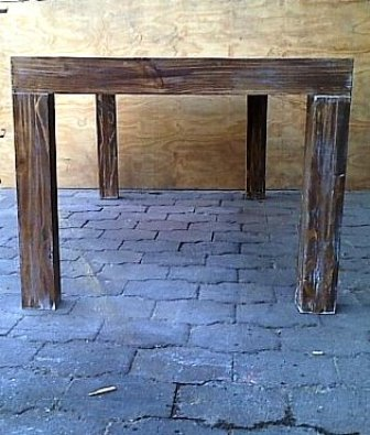 Patio table Chunky Farmhouse series 2100 Glazed weathered look