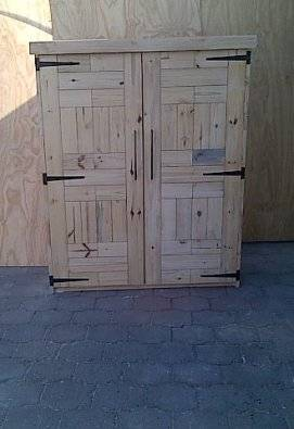 Kitchen Cupboard Farmhouse series Free standing 1700 with 2 doors Extra length Raw