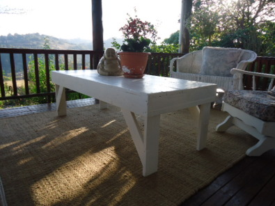 Handcrafted rustic wooden tables dining/coffee/pat