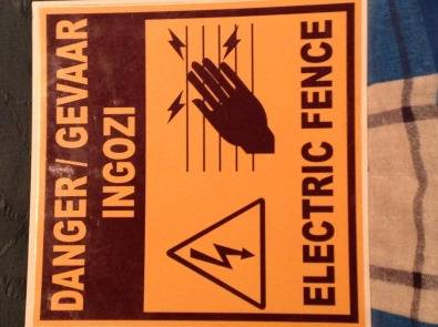 Electric Fence 'DANGER'sign boards X200