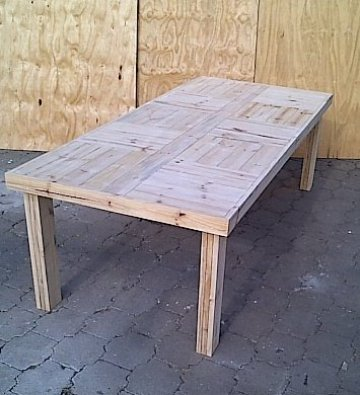Patio table Farmhouse series 2500 Raw