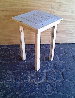 Drinks table Cottage series 500 square Raw