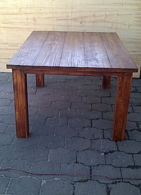 Patio table Chunky Cottage series 1500 Stained
