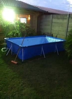Plastic 2x3m square swimming pool & pump for sale | Junk Mail