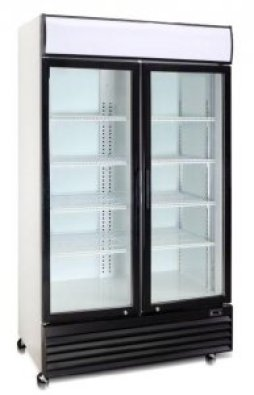 BEVERAGE COOLER DOUBLE DOOR HINGED