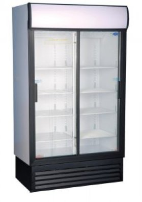 BEVERAGE COOLER DOUBLE DOOR SLIDING GD1140
