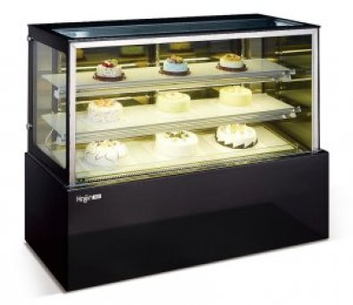 CAKE FRIDGE 1.2M FLAT GLASS