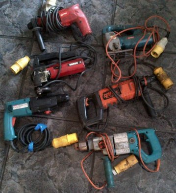 6 off Industrial power tools - 110V type